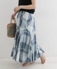 【DOORS】フレアチェックロングスカート