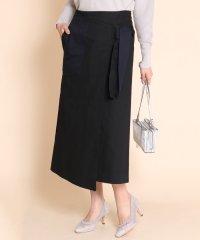 Ample(アンプル) ワントーン配色ラップスカート