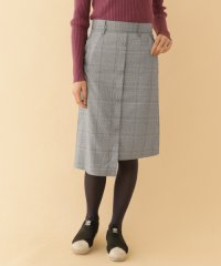 【ITEMS】チェックガラアシメスカート221