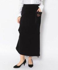 ADDICT NOIR/アディクト ノアー/Back Frill Sweat Skirt