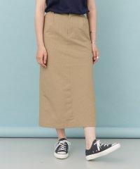 【DOORS】シアサッカーストレートスカート