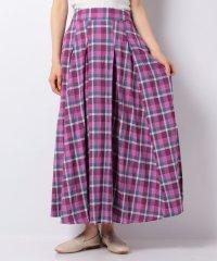 【SonnyLabel】リネンチェックフレアロングスカート