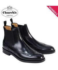 チャーチ Churchs 靴 レディース ブーツ サイドゴア ショートブーツ ウイングチップ Ketsby WG Polish Binder Calf 8706