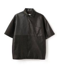 whowhat/フーワット/leather s/s jkt/レザーショーツスリーブジャケット