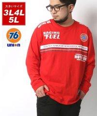 【76Lubricants】セブンティーシックス 大きいサイズ レインボーパネル 長袖Tシャツ 春 バックプリント ロンT