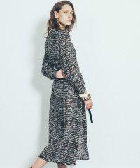 【MIHOKO SAITO】クロコダイルプリントシルクドレス
