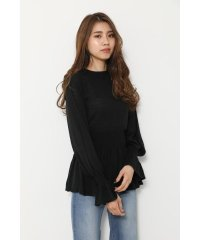 Back Ribbon Knit TOP