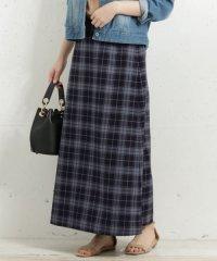 【予約】【WEB限定】チェックロングスカート