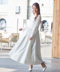 【kaene】バックパールデザインロングウェディングドレス