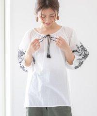 インド綿刺繍ブラウス mitis ss