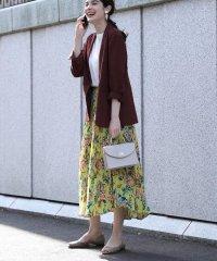 《大きいサイズ》ダフネプリントプリーツスカート《Maglie par ef-de》
