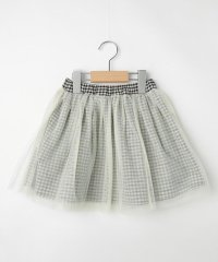 【90-130cm】リバーシブルチェックチュールスカート