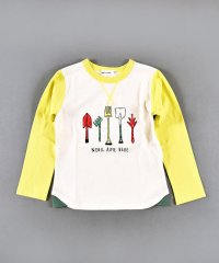 天竺スコッププリント長袖Tシャツ