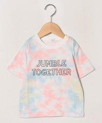 ムラ染めプリントTシャツ