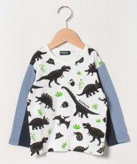 恐竜総柄長袖Tシャツ