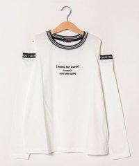 ロゴオープンショルダーTシャツ