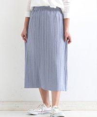 【セットアップ対応商品】ラメストレッチリブプリーツニットスカート