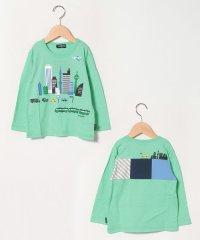 街×電車ブロック切り替えTシャツ
