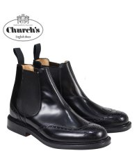 チャーチ Churchs 靴 ブーツ サイドゴア ショートブーツ ウイングチップ メンズ KETSBY CHELSEA BOOTS ブラック ETB001