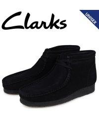 クラークス Clarks ワラビー ブーツ メンズ レディース WALLABEE スエード ブラック 26133281