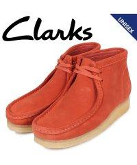 クラークス Clarks ワラビー ブーツ メンズ レディース WALLABEE スエード オレンジ 26144253