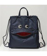 【ANYA HINDMARCH(アニヤハインドマーチ)】139243 クリスタルビジュー装飾 ナイロン 巾着 バックパック リュック トートバッグ MARINE