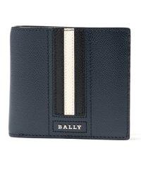 【BALLY バリー】TEISEL LT ボヴィンレザー コインウォレット 小銭入れ付き 二つ折財布 17/ネイビー メンズ