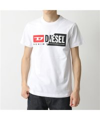 【DIESEL(ディーゼル)】00SDP1 0091A T-DIEGO-CUTY クルーネック 半袖 Tシャツ カットソー Wロゴ 100 メンズ