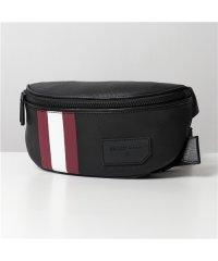 【BALLY バリー】SONNI OF コーテッドキャンバス バムバッグ ショルダーバッグ メッセンジャーバッグ ボディバッグ 鞄 06/BLACK メンズ