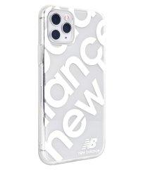 74468-2 iPhone 11 Pro New Balance [TPUクリアケース/スタンプロゴ/ホワイト]