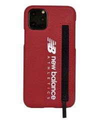 74470-2 iPhone 11 Pro New Balance [ジップ付き背面ケース/レッド]