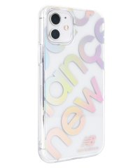 74472-1 iPhone 11 New Balance [TPUクリアケース/スタンプロゴ/オーロラ]
