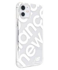 74472-2 iPhone 11 New Balance [TPUクリアケース/スタンプロゴ/ホワイト]