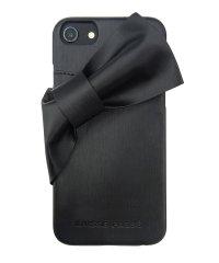 73800 iPhone8/7/6s/6兼用/LAISSE PASSE[ドレープリボン/BLACK] / 背面ケース