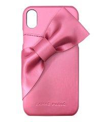 74174 iPhoneXR/LAISSE PASSE[ドレープリボン/ROSE PINK] / 背面ケース