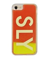 74317-3 iPhone8/7/6s/6兼用/SLY [logo/黄×赤] / ネオンサンドケース