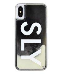 74295-1 iPhoneX/XS兼用/SLY [logo/白×黒] / ネオンサンドケース