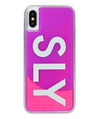 74295-2 iPhoneX/XS兼用/SLY [logo/ピンク×紫] / ネオンサンドケース