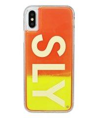 74295-3 iPhoneX/XS兼用/SLY [logo/黄×赤] / ネオンサンドケース