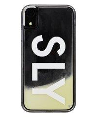 74316-1 iPhoneXR/SLY [logo/白×黒] / ネオンサンドケース