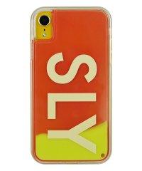 74316-3 iPhoneXR/SLY [logo/黄×赤] / ネオンサンドケース