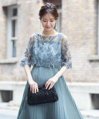 【WEB限定】刺繍&プリーツロングドレス