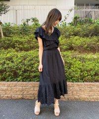 【セットアップ対応商品】コットン刺繍切替スカート