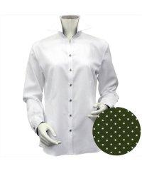 シャツ 長袖 形態安定 スキッパー衿 透け防止 レディース ウィメンズ