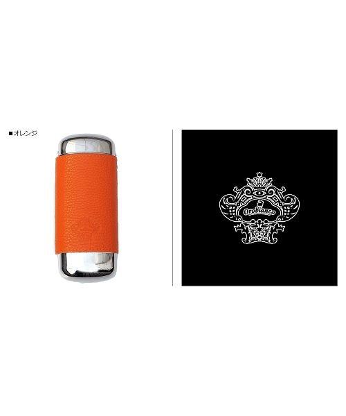 (Orobianco/オロビアンコ)オロビアンコ Orobianco メガネケース 眼鏡ケース サングラス GLASSES CASE 本革 ブラック グレー ネイビー グリーン オレンジ 黒 OB/ユニセックス オレンジ