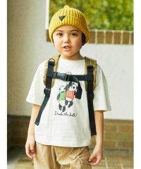 【80-120cm】スポーツアニマル五分袖Tシャツ