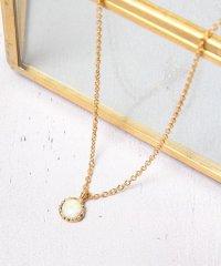 S925 ホワイトオパール丸ネックレス