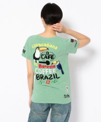 【RAWLIFE限定】birdog/バードッグ/hand embroidery t-shirts -COFFEE-/手刺繍Tシャツ -COFFEE-
