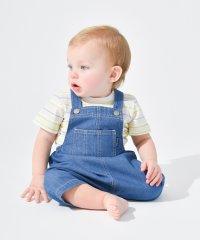 ボーダーTシャツ&ショートオールセット(70~80cm)