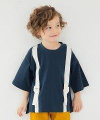 サスペンダー付き風Tシャツ(90~150cm)